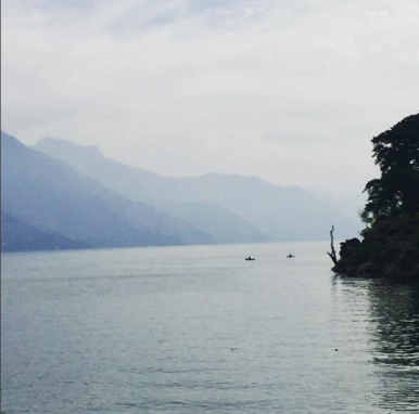 2. Morning on Atitlan lake